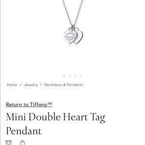 Mini Double Heart tag Tiffany & co necklace